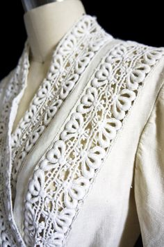 Edwardian Linen & Lace Walking Suit | From a collection of rare vintage suits, outfits and ensembles at https://www.1stdibs.com/fashion/clothing/suits-outfits-ensembles/