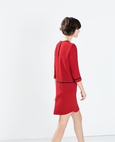 ZARA - WOMAN - CREPE DRESS WITH PIPING
