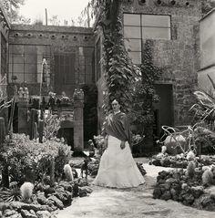 Kahlo in her garden, 1951.