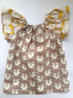 littlefour fox print toddler peasant dress