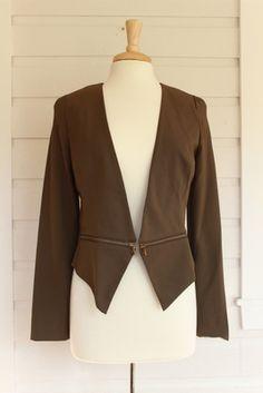 Main Street Chic Olive Blazer With Zipper Detail - #chic #stylish #businesscasual #olive #trendy #jacket - shoprustichoney.com