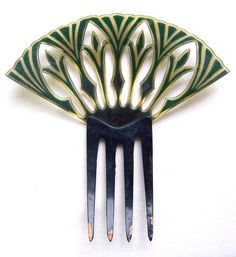 Egyptian Revival hair comb, Spanish style Art Deco hair accessory