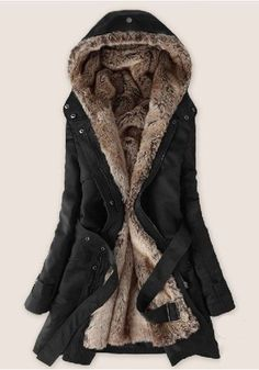 WANT ONE: Thicken Fleece Faux Fur Winter Coat