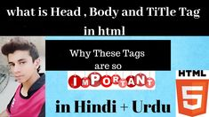 Html Head,Body and Title tag Explained [Urdu+Hindi] Hacker World, Tags In Html, Html Tutorial, Make It Yourself