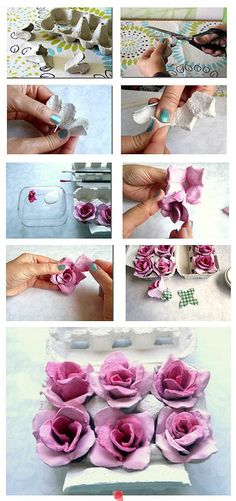 Everyone has a bunch of egg cartons lying around - follow these step by step instructions on how to turn them into beautiful DIY roses!