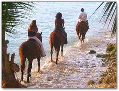 Teach my daughter to horseback ride on the beach! #rfdreamboard