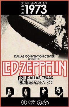first of all led zeppelin is great second this poster is well done. the vertical type along with the simple color change in the name really add to the success of this poster. Poster Retro, Vintage Concert Posters, Tour Posters, Band Posters, Pop Rock, Rock And Roll, Art Garfunkel, Led Zeppelin Concert, Digital Foto