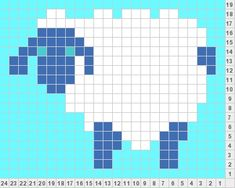 Lamb knitting chart