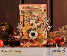 Seasons card by Lena Astafeva featuring the collection Seasons by Graphic 45!