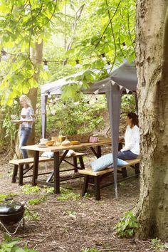 KARWEI   Met een partytent creëer je waar je maar wilt een fijne plek om een zomerse dag door te brengen #tuininspiratie #karwei