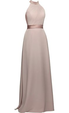 Pin to Win a Wedding Gown or 5 Bridesmaid Dresses! Simply pin your favorite dresses on www.forherandforhim.com to join the contest! | Halter Chiffon Dress $209.99