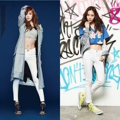 Jessica and Krystal have an 'abs-off' in their recent photo shoots