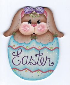 Bunnys Easter Egg Painting E-Pattern