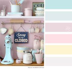 Pastel color palette via Kelcie Saunders Design | www.kelciesaunders.com/blog Spring Color Palette, Pastel Colour Palette, Spring Colors, Pastel Colors, Color Palettes, Sweet Home, Blog, Ideas, Design