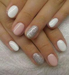 39 glitter gel nail designs for short nails for spring 2019 36 – JANDAJOSS. 39 glitter gel nail designs for short nails for spring 2019 36 – JANDAJOSS. Classy Nails, Stylish Nails, Trendy Nails, Simple Nails, Elegant Nails, Glitter Gel Nails, Pink Nails, My Nails, Silver Glitter