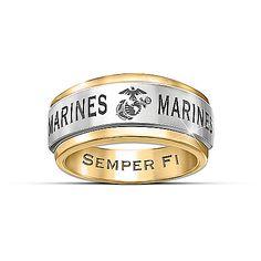Ring: USMC Semper Fi Men's Spinning Ring