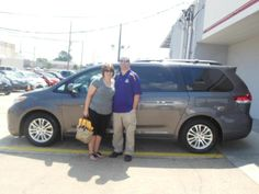 Thank you to Mr. and Mrs. Blanchard, driving in from Prairieville for a great deal on a new Sienna van!