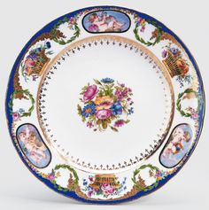 Sévres Porcelain (France) —  Plate, early 19th century : Royal Collection Trust, Her Majesty Queen Elizabeth II, UK (764x768)