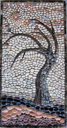 repinned~rock mosaic of a leafless tree  | followpics.co