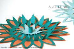great 3D flowers, paper technique
