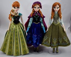 Limited Edition Anna 17'' Dolls - 2013-2015 - Disney Store Purchases - Full Front View