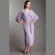 ecoKashmere Long Kimono Wrap Lavender Purple. Wrap up in eco-fashion luxury from organic bamboo.  $104