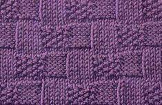 Seed Stitch Basket stitch