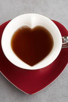 heart shaped teacup