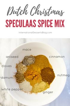 How to make homemade speculaas spice mix (also called Spekulatius or Speculoos). Perfect for Dutch Windmill Cookies, cookie butter spread, . Homemade Spices, Homemade Seasonings, Dutch Recipes, Cooking Recipes, Pancake Recipes, Amish Recipes, Smoker Recipes, Rib Recipes, Cooking Tips