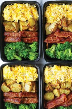 15 Healthier Grab-and-Go Breakfast Options - Meal prep - Healthy breakfast Healthy Recipes, Healthy Breakfast Recipes, Lunch Recipes, Healthy Snacks, Healthy Options, Keto Snacks, Keto Recipes, Lunch Meal Prep, Healthy Meal Prep