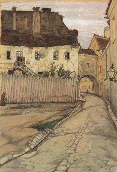 Vilno. Street., 1906 - Mstislav Dobuzhinsky