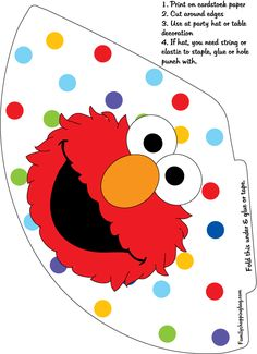 print free sesame street printables from invitations, to elmo party hats, and favor boxes. Sesame Street Crafts, Sesame Street Party, Sesame Street Birthday, Elmo Birthday, 1st Birthday Girls, Boy Birthday Parties, Birthday Ideas, Elmo Coloring Pages, Sesame Street Coloring Pages