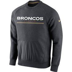 Denver Broncos Nike Championship Drive Gold Collection Hybrid Performance Fleece Sweatshirt - Charcoal - $79.99