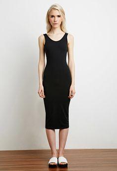 Scoop Back Midi Dress