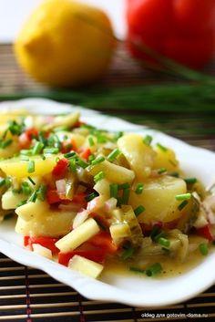 Берлинский картофельный салат с винегретной заправкой