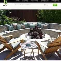 patio. firepit. seating.