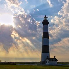Third time's a charm! Bodie Island Lighthouse, as we know it today, is the third version of the lighthouse that's been built on this site, standing tall since 1872.
