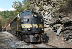 RailPictures.Net Photo: WM 243 West Virginia Central Railroad EMD F7(A) at Elkins , West Virginia by Ryan Lewis