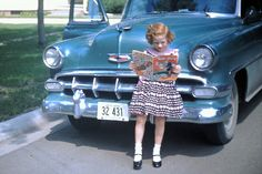 This car looks like the first car I can remember our family having.  It was a 1951 green Chevy with a torpedo back.