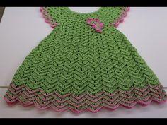 Vestido para Niña de 3 a 4 años Crochet - YouTube