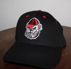 9030e63060a UGA Georgia Bulldogs Hat Captivating Headwear Cap Adjustable Hook and Loop  NCAA  fashion  clothing