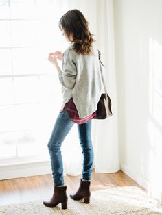 casual holiday gatherings: my go-to outfit formula – Christmas Fashion Trends Casual Holiday Outfits, Fall Winter Outfits, Casual Party, Winter Fashion 2016, Autumn Fashion, 2016 Winter, Winter Outfit For Teen Girls, Sweater Layering, Vogue