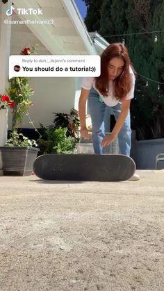 Beginner Skateboard, Skateboard Videos, Penny Skateboard, Skateboard Design, Skateboard Girl, Skateboard Outfits, Skate Girl, Skate Style Girl, Skater Girl Outfits