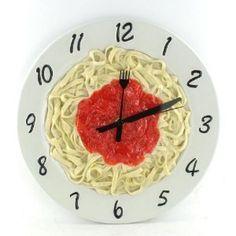 Italian Kitchen Pasta Plate Wall Clock. I LOVE IT! HILARIOUS. I NEED ONE!