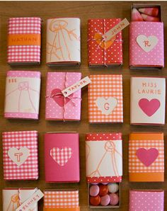 Mini-gifts for friends or teachers made simply by decorating boxes of matches