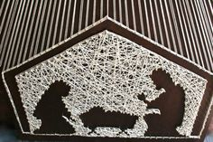 Christmas Manger String Art/ Christmas String by DistantRealms