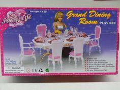 gloria barbie doll sized grand dining room furniture accessories barbie httpwww amazoncom barbie size dollhouse