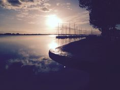 Port de Bourg sur Gironde au coucher de soleil