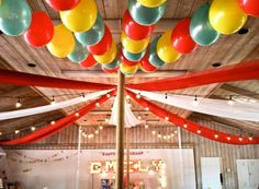 Love the balloons on the ceiling #SocialCircus