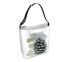 This stylish tote bag features a pinecone, making it perfect for nature lovers.  These versatile bags, with an adjustable strap, are created in supple neoprene that has some stretch that makes it perfect carry all for shopping, books, and all those other odds and ends that you need to pack with you.  #Pinecone #ToteBag Tote, #Crossbody #BookBag #ecofriendly #CarryAll, #Beachtote #Yoga, #Big #GroceryBag, #Nature #ecofriendly #accessories by #WhimZingers on Etsy #etsyseller #etsyshop…